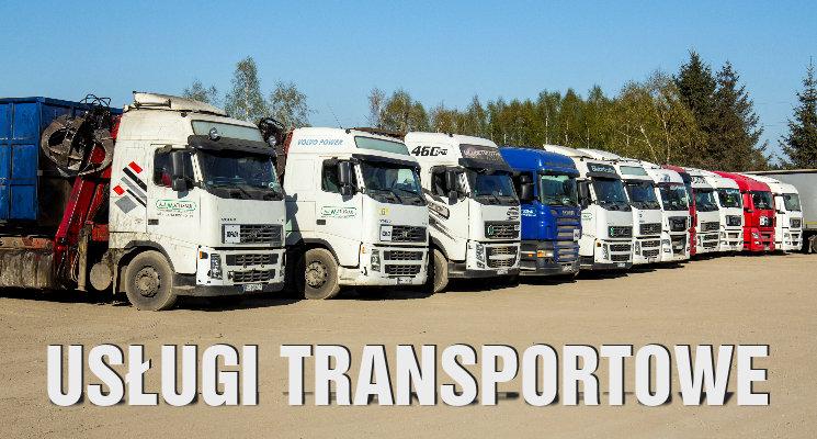 Usługi transportowe - przewóz kruszyw